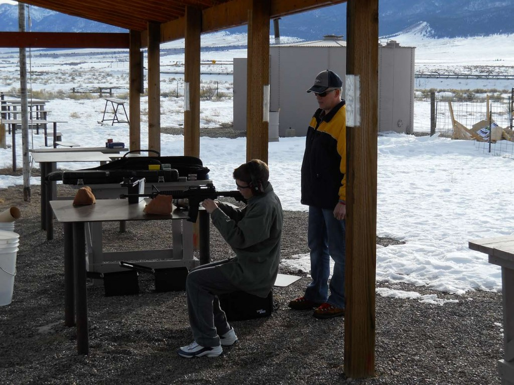 Father passes on to son shooting's Safety, Fun, Proficiency